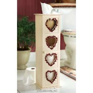 Country Heart Toilet Paper Holder