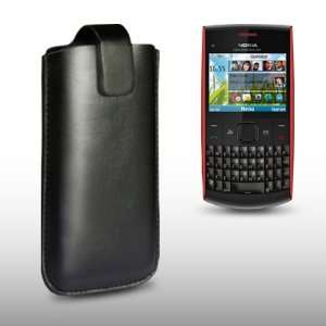 NOKIA X2 01 BLACK PU LEATHER CASE / COVER / POCKET / POUCH