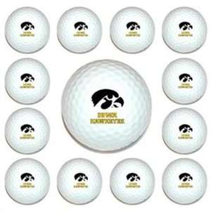 University of Iowa Hawkeyes Dozen Pack Golf Balls New