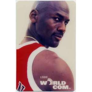 Collectible Phone Card 50u Michael Jordan Basketball (Red