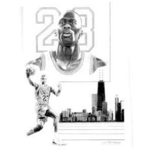 Michael Jordan Chicago Bulls Lithographs   Unframed