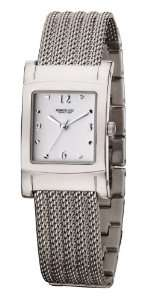 Stainless Steel Quartz Watch with White Dial Kenneth Cole Watches