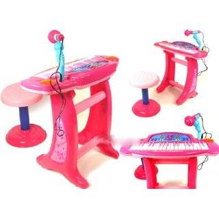Kids Children Electric Piano Toy Karaoke Music Keyboard Pink  Toys