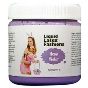 Ammonia Free Liquid Latex Body Paint   4oz Neon Violet Beauty