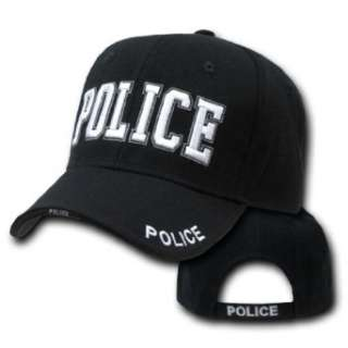 3 D Embroidered Law Enforcement Caps HAT (POLICE , BLACK