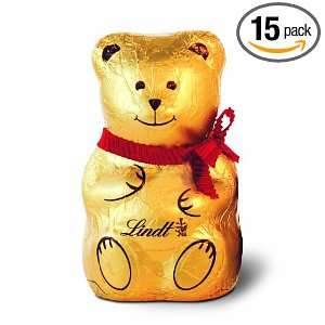 Lindt Milk Chocolate, Teddy Bear, 3.5 Ounce Packages (Pack of 15)