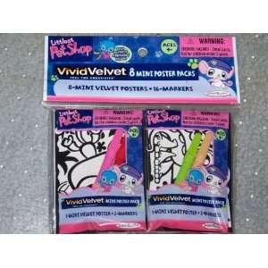 Littlest Pet Shop VividVelvet 8 Mini Poster Packs Toys