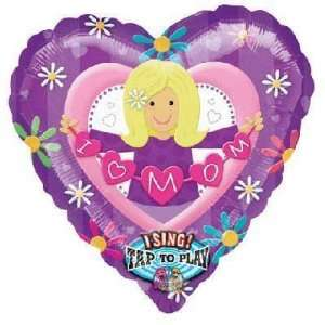 Mothers Day Balloons   29 I Love Mom Sing A Tune Toys & Games