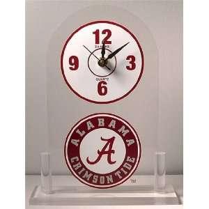 NCAA Alabama Crimson Tide Desk Clock