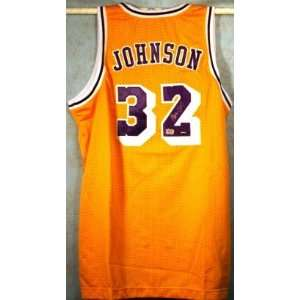 Magic Johnson Autographed Uniform   with   Inscription