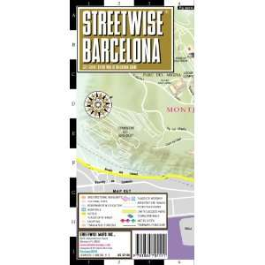 Streetwise Barcelona Map   Laminated City Center Street Map
