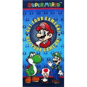 Super Mario Get Your Game on Beach Towel