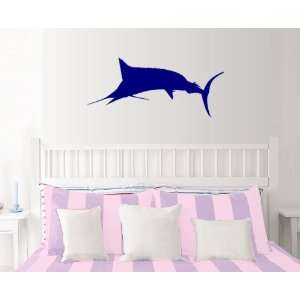 StikEez Blue Large Mounted Marlin Wall Decal