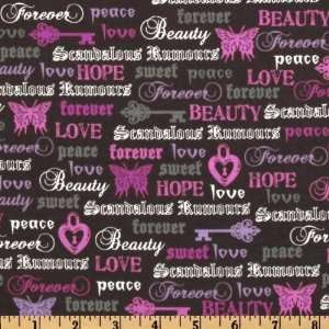 Michael Miller Love Forever Gray Fabric By The Yard Arts, Crafts
