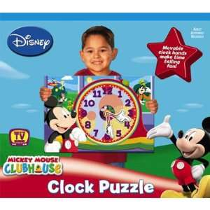 Disney Mickey Mouse Clubhouse Clock Puzzle Toys & Games
