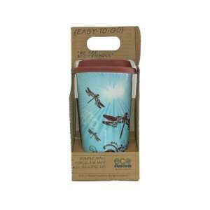 Dragonfly ECO Fusion MUG Cup W/brown Silicone Travel Reusable Green