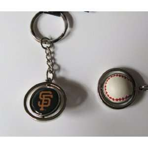 Giants Rubber Baseball Spinner Keychain Key Ring Sports & Outdoors