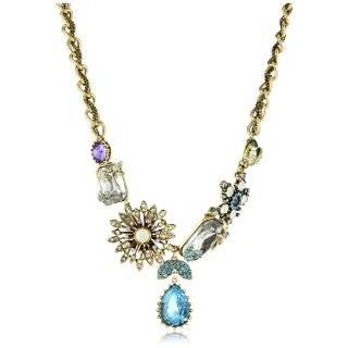 Iconic Enchanted Garden Crystal Multi Charm Statement Necklace