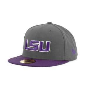 New Era 59FIFTY NCAA 2 Tone Graphite and Team Color Hat: Sports