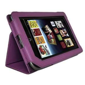 Purple Leather Stand Case Cover for  Nook Color Nook