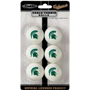 Michigan State Spartans Table Tennis Balls  Sports