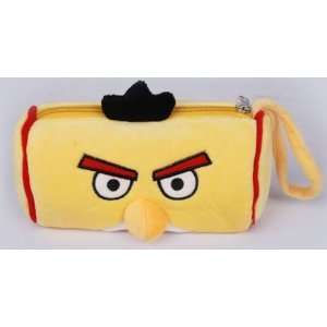 New Yellow Angry Birds Soft Plush Pencil Case Bag
