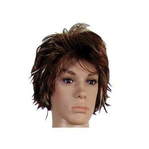Short Brown Wig for Male Mannequin Toys & Games