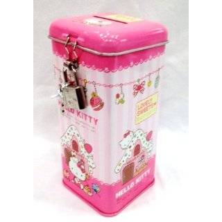 Licensed Sanrio Hello Kitty Coin Bank with Lock   Pink (Rectangle