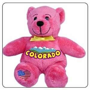 Colorado Symbolz Plush Pink Summer Bear Stuffed Animal Toys & Games