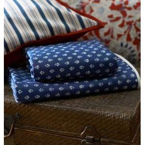 com Ralph Lauren Cote Dazur Queen Flat Sheet 350 Tc 100% Cotton Blue