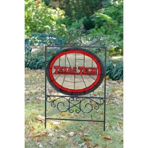TEXAS TECH RED RAIDERS Team Logo STAINED GLASS YARD SIGN