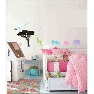 House Africa Animal Field removable Vinyl Mural Art Wall Sticker Decal