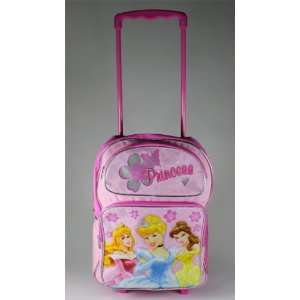 Princess Cinderella, Bell, Aurora 16 Rolling Backpack Toys & Games
