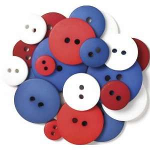 com Multi Colored Button Asst 24/pkg uncle Sam Arts, Crafts & Sewing