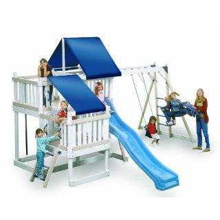 Monkey Playsystem Wooden Swing Set White Package #4: Toys & Games