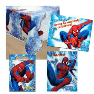 Spiderman Birthday Supplies Invitations Party Pack 4 items