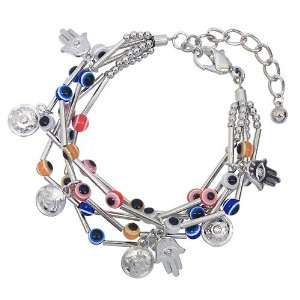 Fashion Jewelry Desinger Inspired Evil Eye and Hamsa Symbol Bracelet