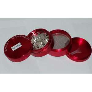 SMART CRUSHER RED SPACE Aluminum SPICE HERB Grinder Magnetic CASE