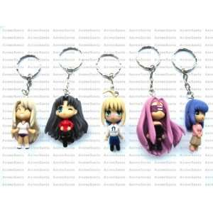 FATE STAY NIGHT 5 Keychains Set + Pin Toys & Games