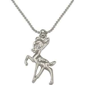 Disney .925 Sterling Silver Bambi Charm Necklace