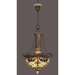 Tiffany Style Stained Glass Hanging Lamp VL005: Home