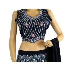 : BOLLYWOOD DESIGNER LEHENGA CHOLI PARTY INDIAN DRESS M: Toys & Games