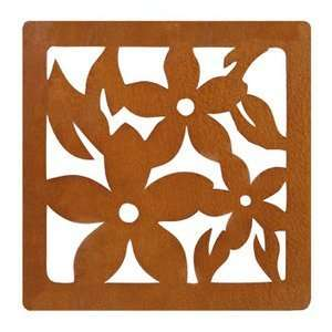 Hawaiian Laser Cut Trivets 3 Plumerias Set of 2: Kitchen