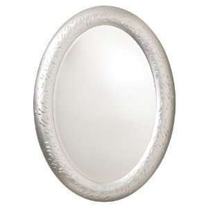 Silver Hammered Motif Oval 36 High Wall Mirror