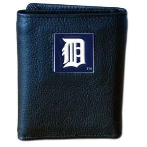 MLB Detroit Tigers Genuine Leather Tri fold Wallet