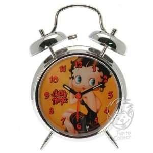 Betty Boop in Black Dress Twin Bell Alarm Clock  Kitchen
