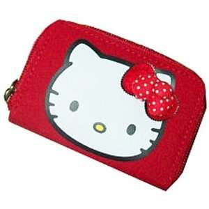 Sanrio Hello Kitty Red Zip Around Wallet  Red Polka Dot