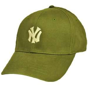 MLB New York Yankees NY Yanks Olive Green Tan American Needle Licensed