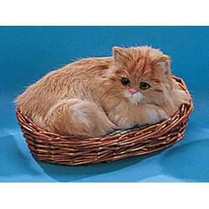 Cat Kitty Lying In Basket Collectible Decoration Kitten Cute