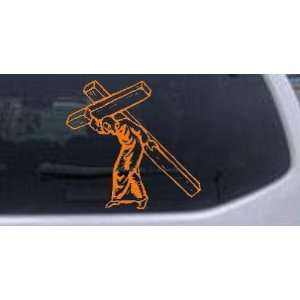 Jesus With The Cross Christian Car Window Wall Laptop Decal Sticker